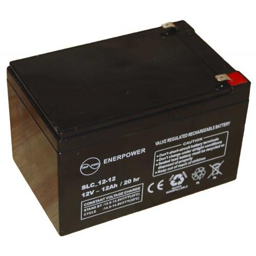 Batteria ermetica sigillata AGM VRLA 12V 12Ah Enerpower SLC 12-12D per ups luci emergenza antifurto allarmi fotovoltaico servizio camper e nautica