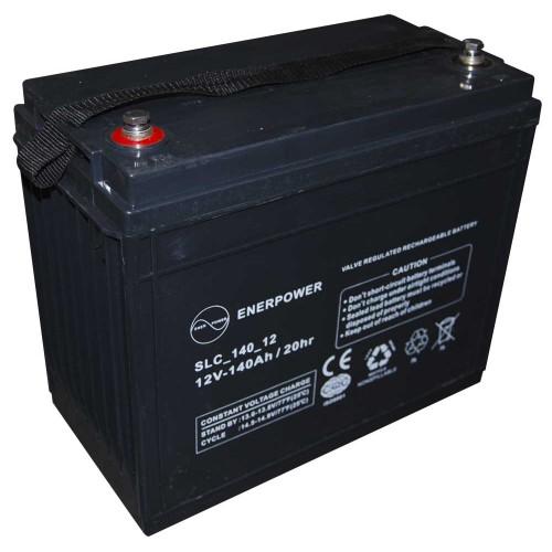 Batteria ermetica sigillata AGM VRLA 12V 140Ah Enerpower SLC 140-12A per ups luci emergenza antifurto allarmi fotovoltaico servizio camper e nautica