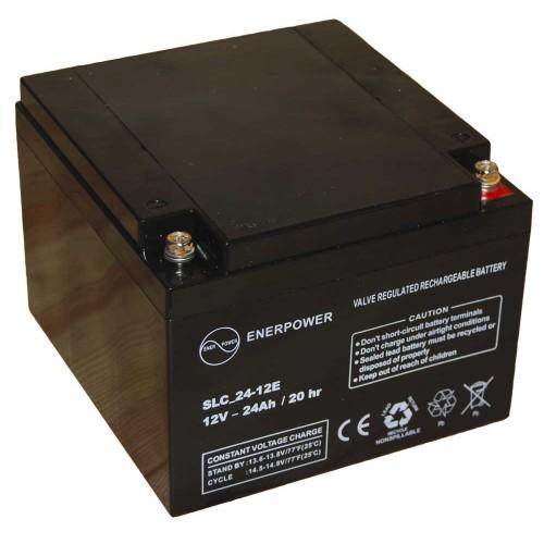 Batteria ermetica sigillata AGM VRLA 12V 24Ah Enerpower SLC 24-12E per ups luci emergenza antifurto allarmi fotovoltaico servizio camper e nautica