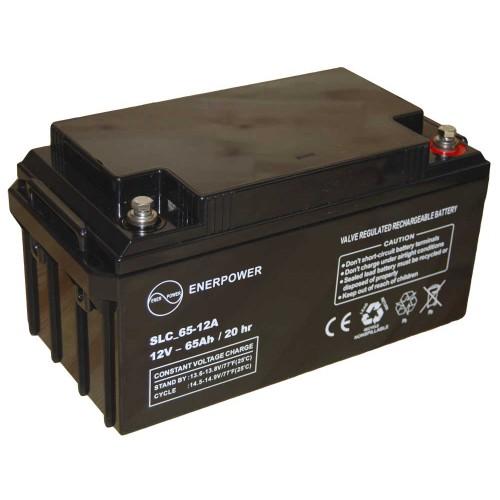 Batteria ermetica sigillata AGM VRLA 12V 65Ah Enerpower SLC 65-12A per ups luci emergenza antifurto allarmi fotovoltaico servizio camper e nautica