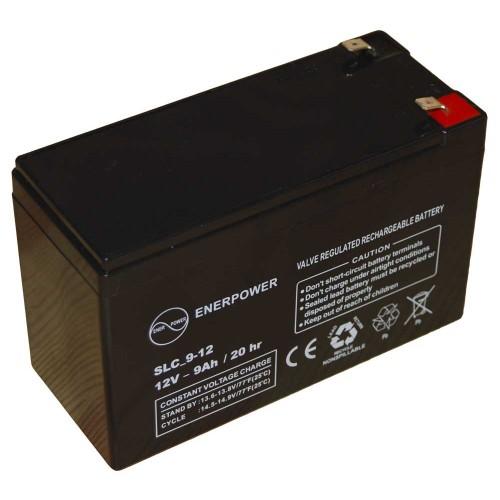 Batteria ermetica sigillata AGM VRLA 12V 9Ah Enerpower SLC 9-12B per ups luci emergenza antifurto allarmi fotovoltaico servizio camper e nautica